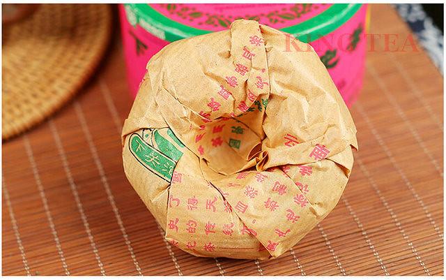 Free Shipping 2006 XiaGuan TeJi Pink Boxed Tuo Bowl Nest 100g China YunNan MengHai Chinese Puer Puerh Raw Tea Sheng Cha
