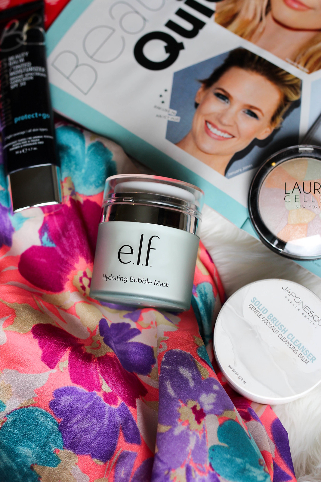 My July Beauty Essentials on Living After Midnite e.l.f. Hydrating Bubble Mask