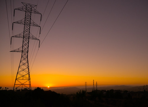 castro valley sunset power lines purple orange sky five canyons park