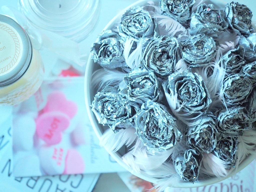 silver rose jar