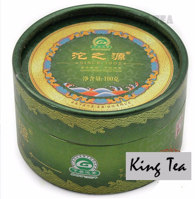 Free Shipping 2012 XiaGuan Tuo Zhi Yuan Boxed Tuo 100g China YunNan KunMing Chinese Puer Puerh Raw Tea Sheng Cha Weight Loss Slim