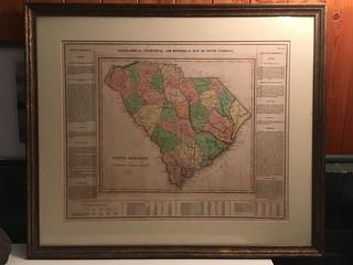 1822 Carey and Lea Map of South Carolina