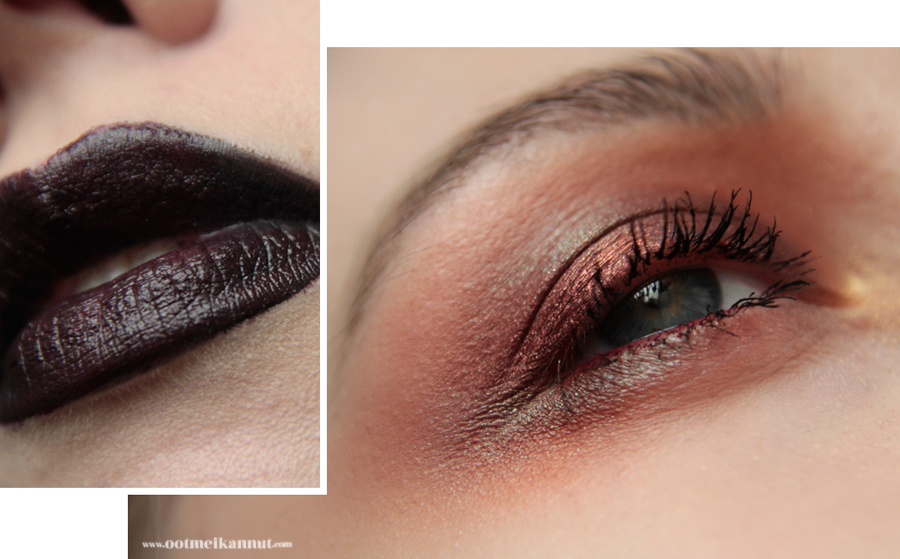 red duochrome makeup