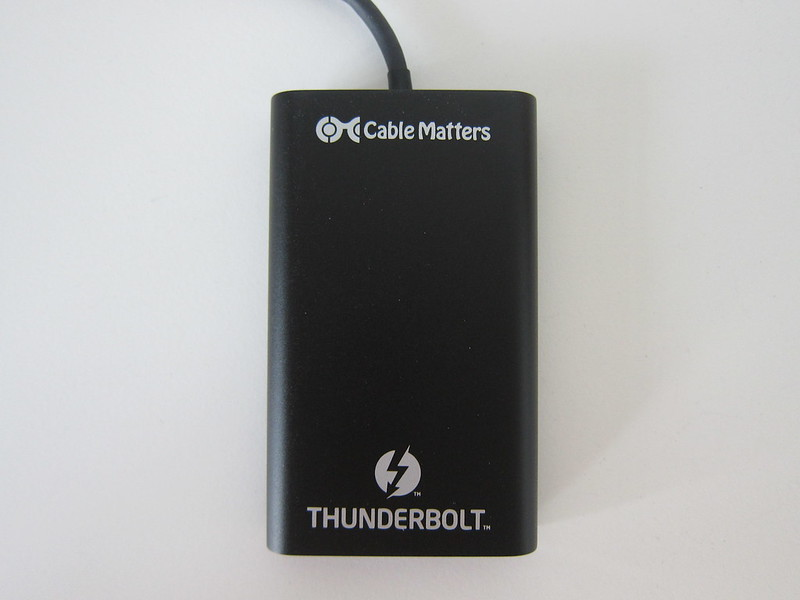 Cable Matters Thunderbolt 3 to Dual DisplayPort Adapter - Front