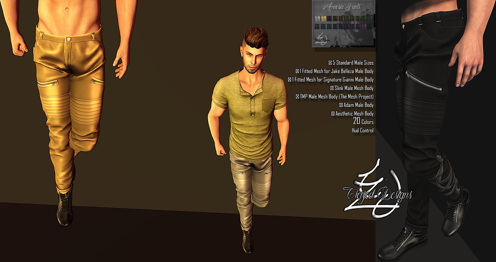 Treized Designs Presentation Amnesia Pants - SecondLifeHub.com