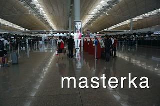 香港国際空港チェックインカウンター