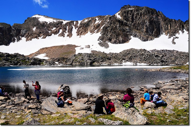 At 12,061' Lake Dorothy is the highest named lake in the Indian Peaks