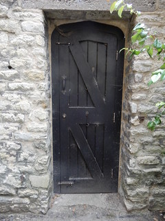 a dark doorway