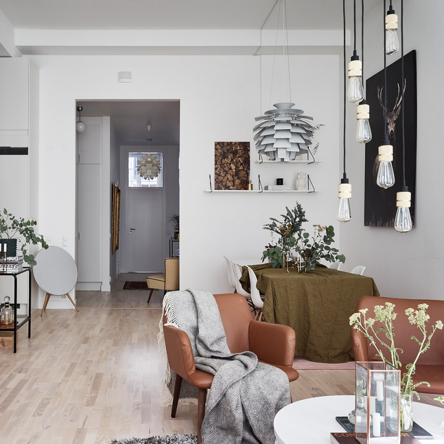 Scandinavian Home With Warm Tones