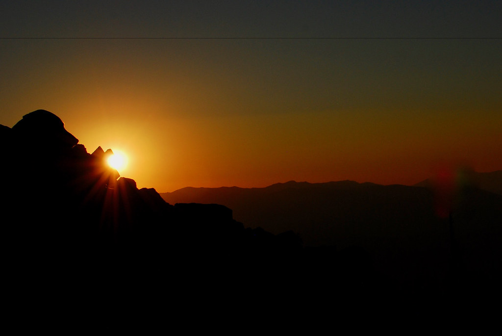 Sunset from a peak