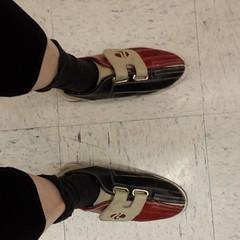 Went bowling. Hideous shoes. • 7.24.17 • #bowlingshoes #hideousshoes #bowling #cheapfun #glacierlanes #everett #everettwa #galaxys4