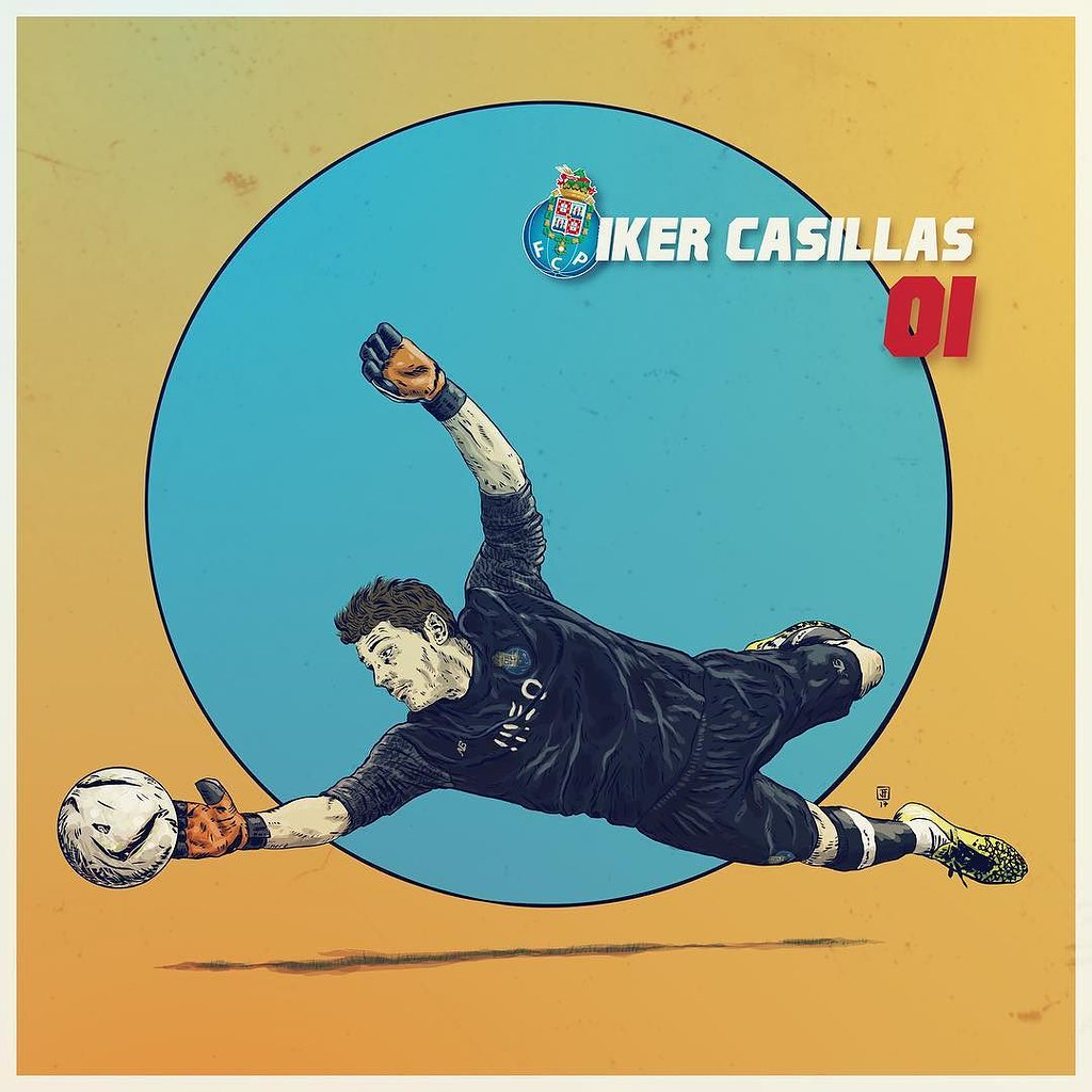 Iker Casillas, a golden veteran keeping the back of the Dragons @ikercasillas @autodesksketchbook @autodesk_sketchbook @autodesk @pixlr @sketchbookapp @pixlr @shift_by_pixite @overappofficial @fcporto @superdragoes1986 #illustration #illustrationdaily #sk