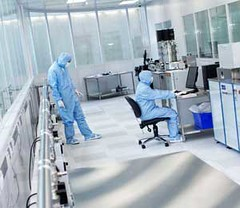 2d-health posted a photo:	National Graphene Institute clean room. Credit: NGI, University of Manchester