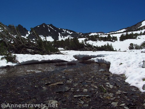 Half-frozen stream above the Virginia Lakes, California