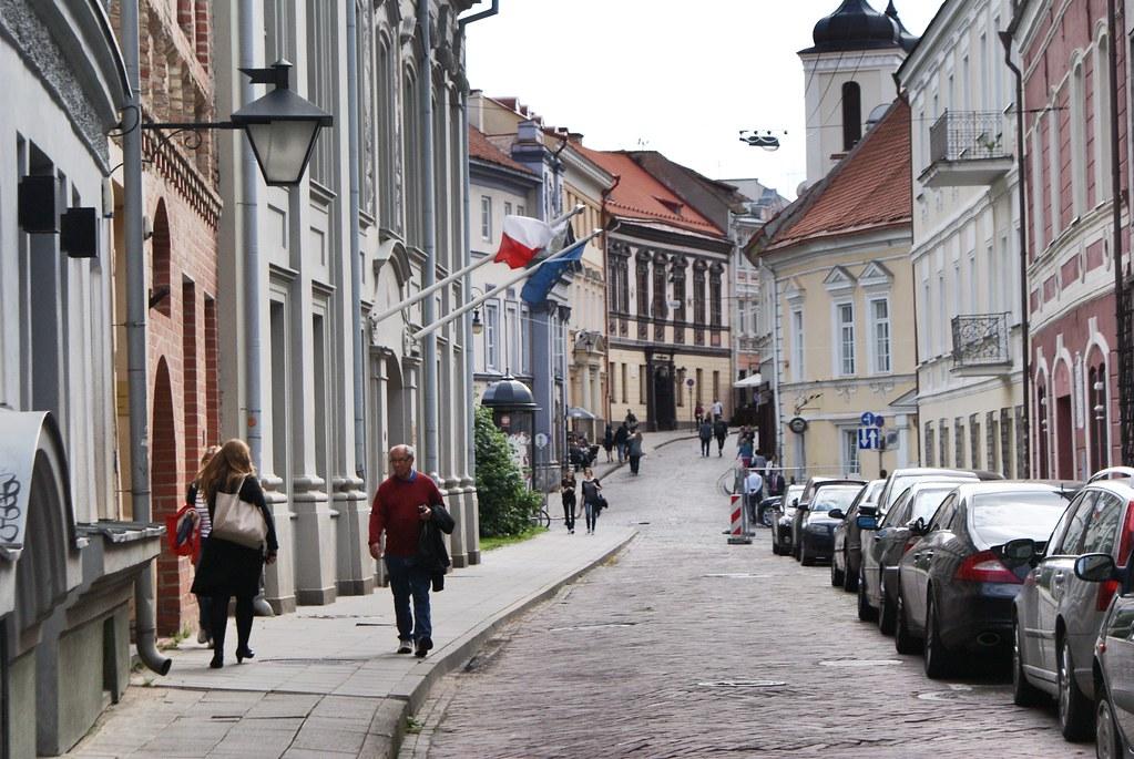 Dans le quartier de la Vieille Ville de Vilnius