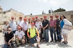 Paratroopers and WOW at the main Western Wall Plaza