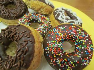Baked Sprinkle Doughnuts