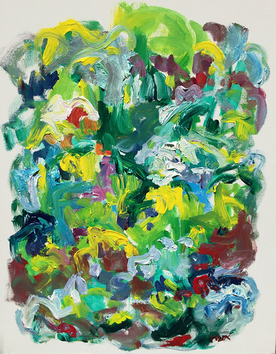 Susan Marx, Flower Bed, 2017, 30x24, acrylic on canvas