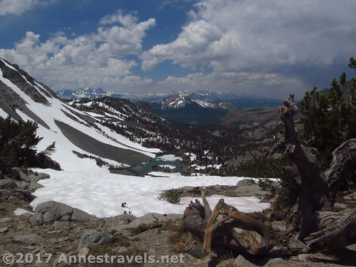 Views over the Deer Lakes from Duck Pass in Inyo National Forest, California