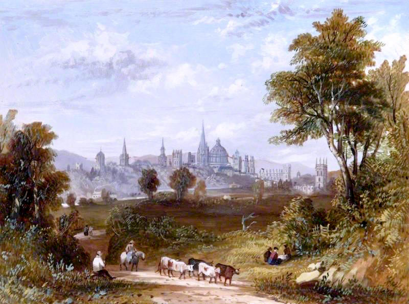 View of Oxford by William Turner of Oxford, 1820