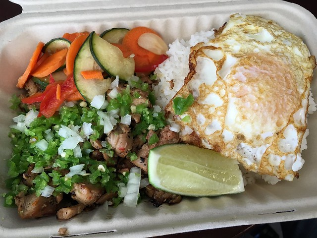 Chicken sisig with steamed rice - Senor Sisig
