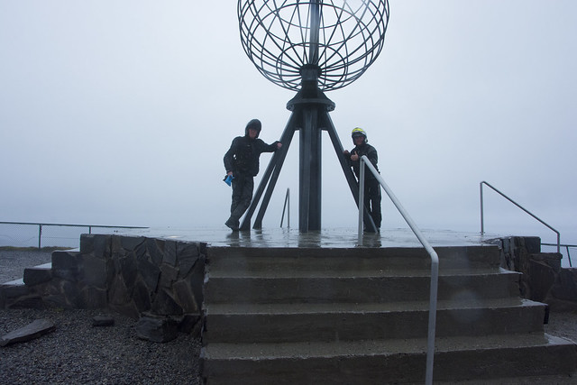 me and dad at nordkapp