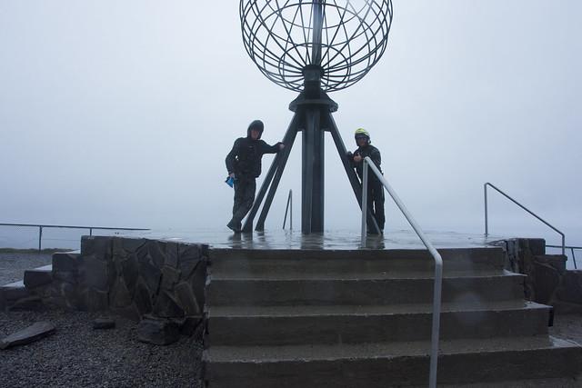 me and dad at nordkapp
