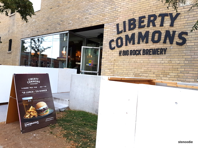 Liberty Commons at Big Rock Brewery storefront