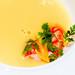 潤紅胭脂蝦佐漾黃玉米濃湯