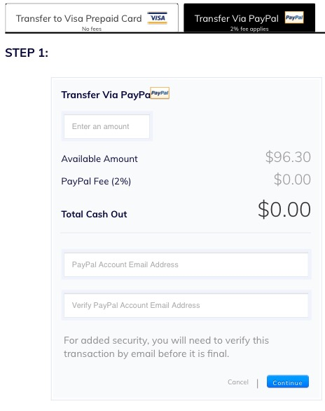 thredUp Cash Out Transfer Via PayPal