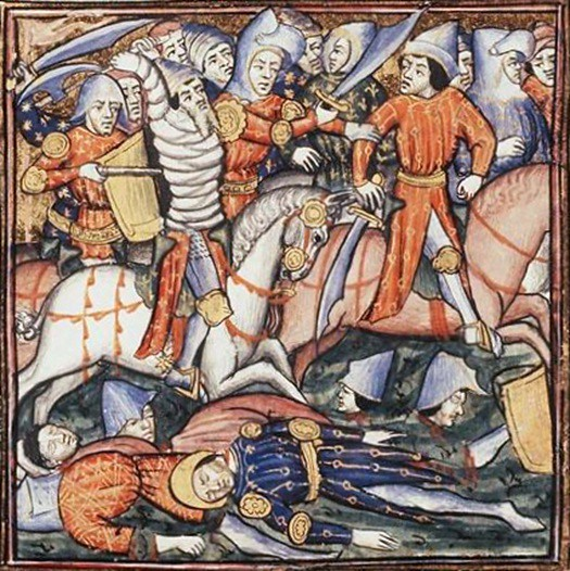 Medieval depiction of battle of Cannae
