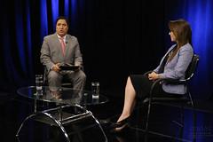 07/27/2017 - 17:28 - Quito, 26 de julio del 2017 (ANDES).- La Ministra de Salud Verónica Espinoza en diálogo con Marco Antonio Bravo, Director del Programa Ecuador No Para. ANDES/Micaela Ayala V.