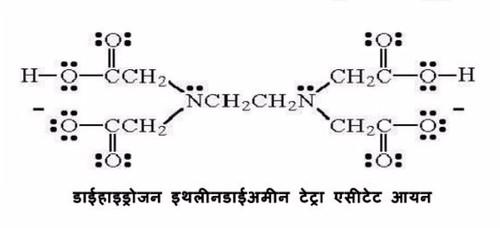 डाइहाइड्रोजन इथलीडाइअमीन टेट्रा एसीटेट आयन