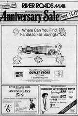 River Roads Mall anniversary sale newspaper ad (1989)