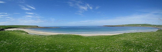 Bay of Skaill, Orkney, Beach Panorama