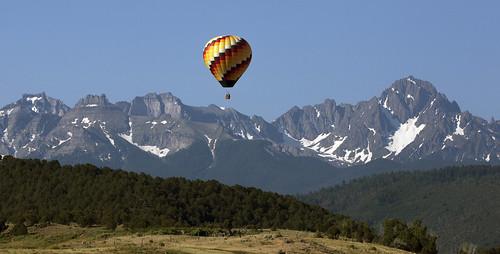 balloon balloonride mountsneffels colorado sanjuanmountains landscape scenic mountains wilderness earthnaturelife wondersofnature