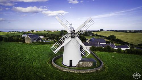 Aerial photography: Ballycopeland Windmill