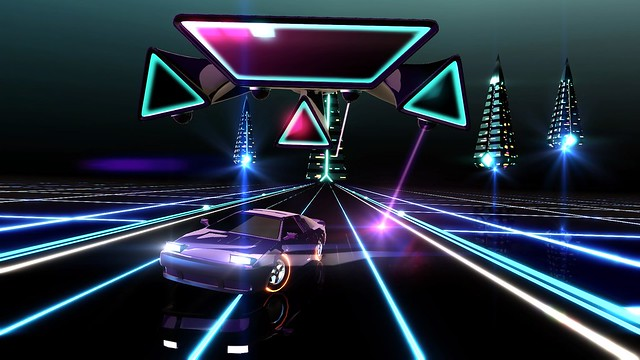 Synthwave and 80s-inspired Neon Drive drifts onto PS4 next
