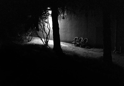 chair night usa washington kent greenrivertrail triking bw
