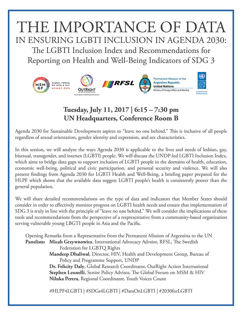 UN Event on the Importance of Data for LGBTIQ Health