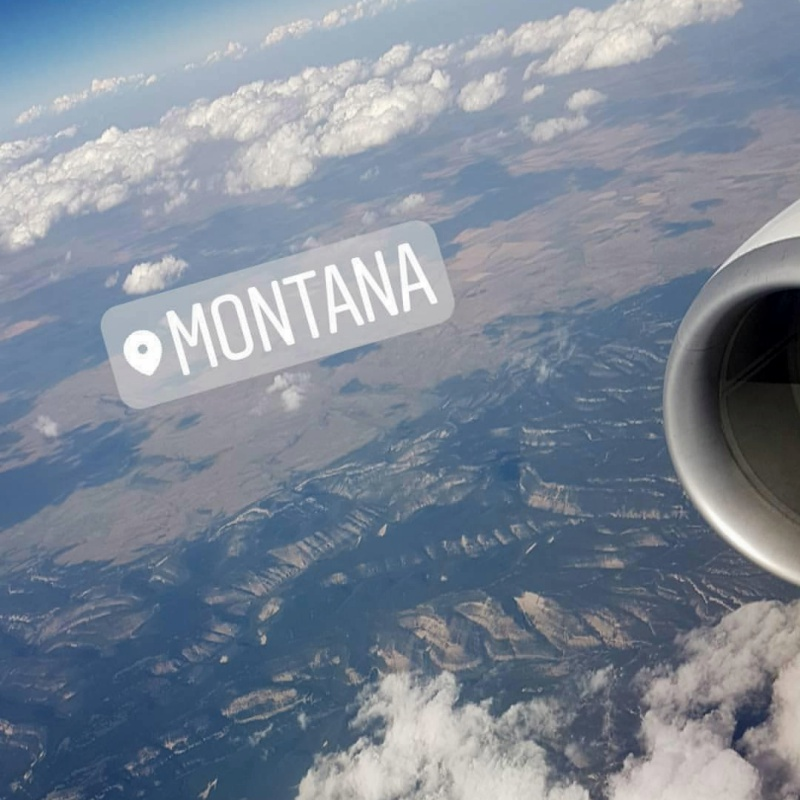 view from the plane Montana