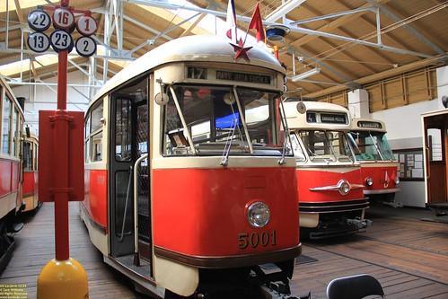 1952 Tatra T1 #5001 & 1955 Tatra T2 #6002 & 1962 Tatra T3 #6149
