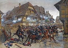 La charge des cuirassiers d'E. Detaille (musée de la bataille du 6 août 1870, Woerth)