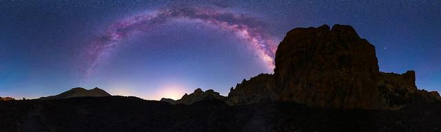 Panorámica 360º Parque Nacional Del Teide Via Lactea