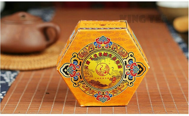 Free Shipping 2011 XiaGuan ShengTai LaoShu Boxed Beeng Cake 100g YunNan MengHai Organic Pu'er Raw Tea Weight Loss Slim Beauty Sheng Cha