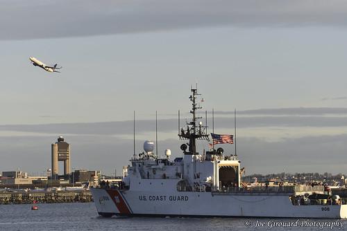 boston january2017 castleisland sunrise boat 2017 uscg uscgc uscgboston