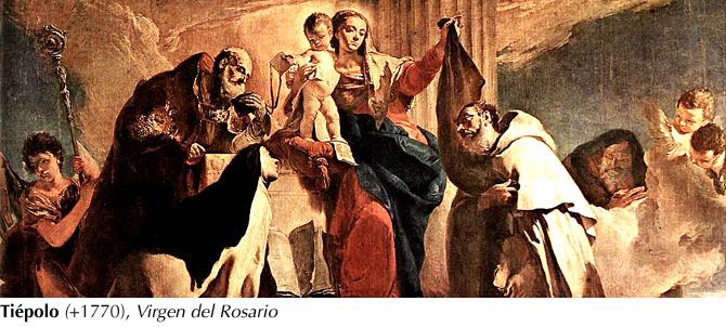 Tiépolo, +1770 - Virgen del Rosario