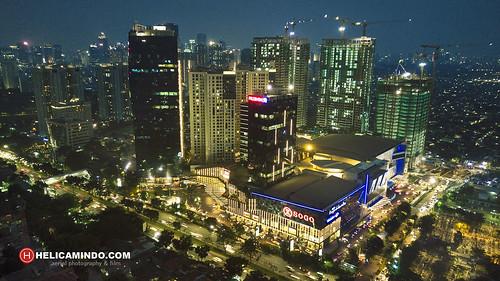 kotakasablanka kota kasablanka jakarta kuningan aerial view drone dji djimavicpro djiphanthom nightscape cityscape casagrande casa grande apartemen helicamindo indonesia