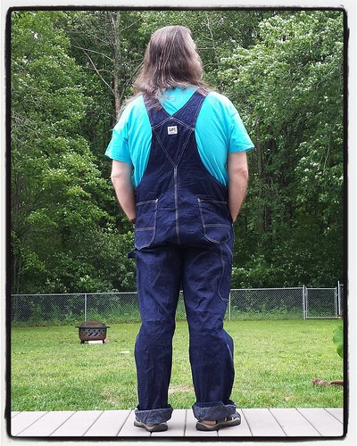 From the back #overalls #vintage #Lee #bluedenim #dungarees #denim #rawdenim