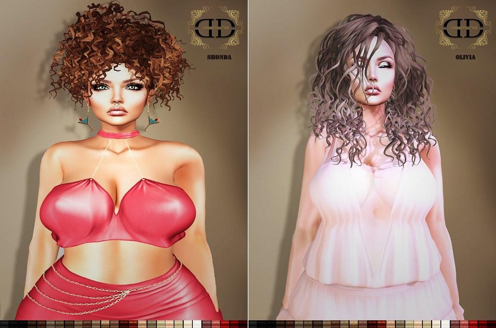 Shonda & Olivia flickr Hair Fatpacks 2nd Floor in Mainstore - SecondLifeHub.com